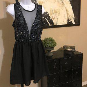 F21 Mini Black Party Dress M